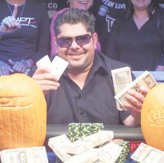 James Jeff of Fresno was the winner at the Club One Casino HPT main event, pocketing 185,184 and the title.
