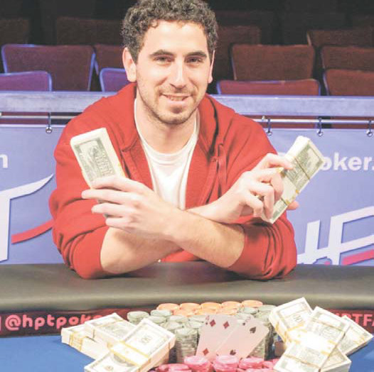 Berkeley's Michael Rosenbach won the Heartland Poker Tour main event at Thunder Valley Casino, taking home the trophy and $180,696.